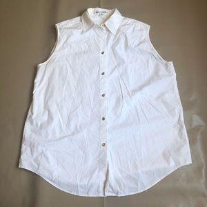 Acne Studios white sleeveless Button down Blouse
